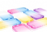Gradient color ultra soft transparent shell